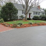 Front Yard with Mulch finished